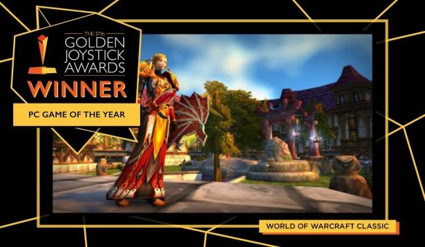 World of Warcraft Classic стал игрой года для ПК по версии Golden Joystick