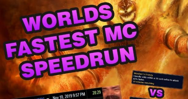 Игроки WoW Classic сумели зачистить Огненные Недра всего за 28 минут