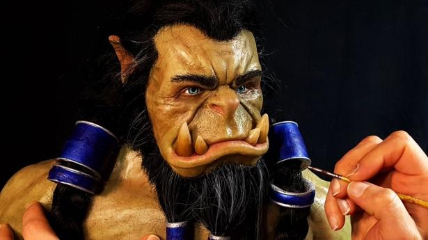 Игрок слепил бюст Тралла из синематиков Battle for Azeroth