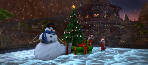 Поздравление с наступающими праздниками от разработчиков World of Warcraft