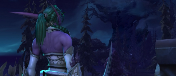 Внутриигровая сцена с Тирандой на фронте «Битва за Темные Берега»