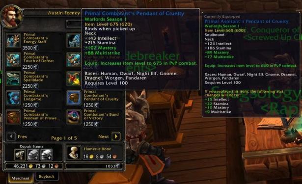 В Shadowlands в игру вернутся торговцы PvP-предметами