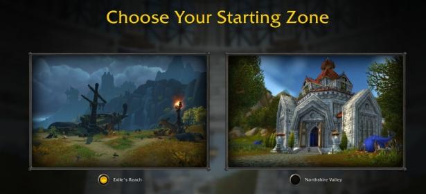 Выбор начальной локации и дополнения для прокачки в Shadowlands