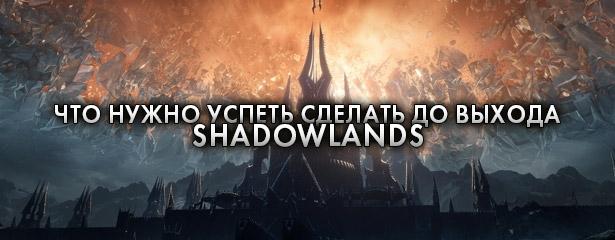 Что нужно успеть сделать до выхода Shadowlands