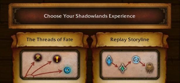 Система «Нитей судьбы» для развития альтернативных персонажей в Темных Землях в Shadowlands
