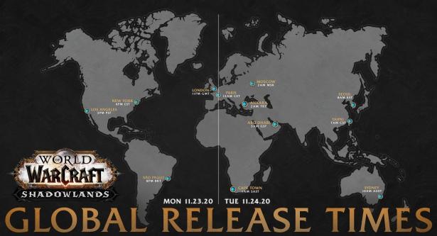 Точное время выхода World of Warcraft: Shadowlands